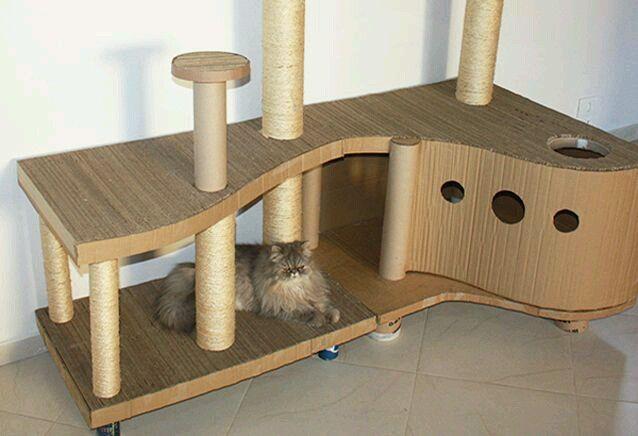 76 best centros de recreo para gatos images on pinterest for Diy cat playground