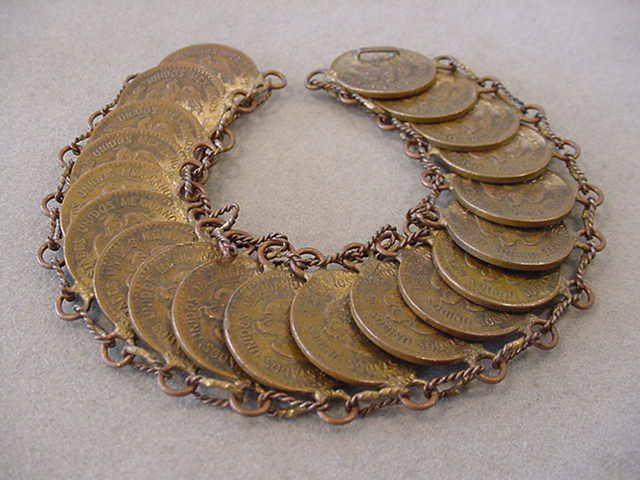 Vintage Mexican Coin Bracelet Estados Unidos Mexicanos Coin Bracelet Brass FOREIGN COIN Bracelet - Steampunk Jewelry Boho Bracelet by Magicclosetbling on Etsy