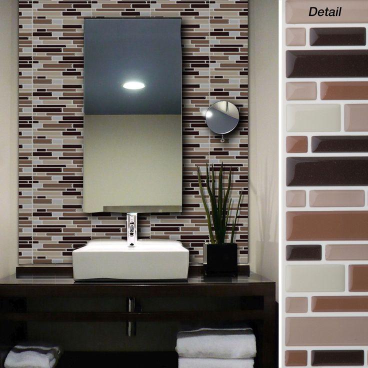 Self Stick Bathroom Wall Tiles