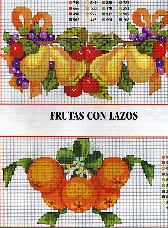 Points de croix *@* Fruits
