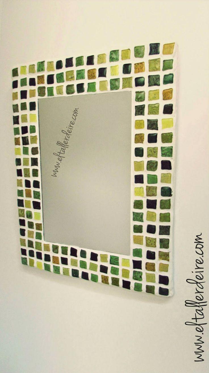 El taller de Ire: Cómo hacer un espejo con mosaico http://www.eltallerdeire.com/2014/09/como-hacer-un-espejo-con-mosaico.html#more
