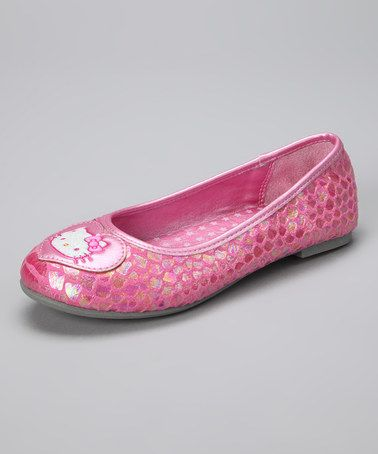 Take a look at this Pink Hello Kitty Kim Flat by Hello Kitty on #zulily today!