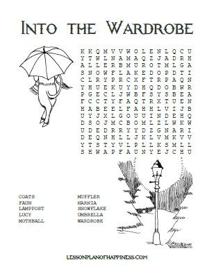 Into the Wardrobe Free Narnia Word Search
