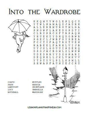 Into the Wardrobe Free Narnia Word Search