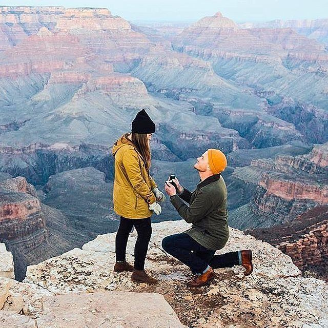 #Congratulations @katiekett & @patgarygarrett to the most romantic Grand Canyon proposal. #engaged