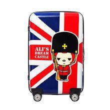 KUNDUI Union Jack Cartoons men suitcase bags abs vintage Waterproof shockproof women trolley case, travel luggage bag maletas //FREE Shipping Worldwide //
