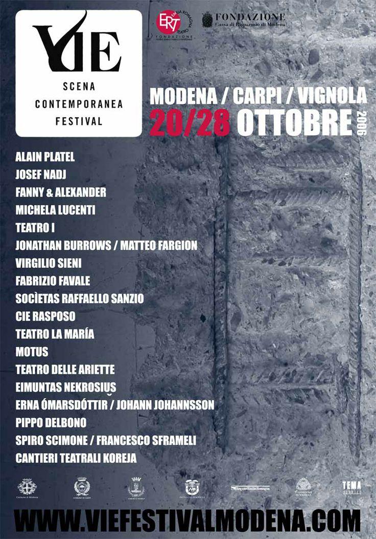 Poster VIE Scena Contemporanea #Festival 2006. Imagine by Romeo #Castellucci