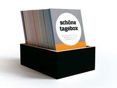Kombination aus Kalender und Tagebuch: Die schönetagebox für alle Erinnerungen / calendar meets diary: memory box for adventures with family and friends made by sperlingB.design via DaWanda.com