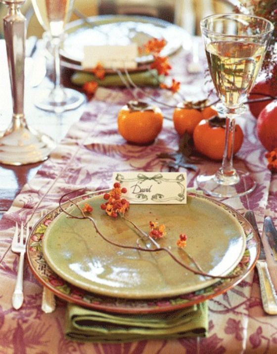 Thanksgiving Table Settings and Decorations - Thanksgiving Tablescapes Decorating Ideas - Country Living & 495 best Thanksgiving Table Settings images on Pinterest ...
