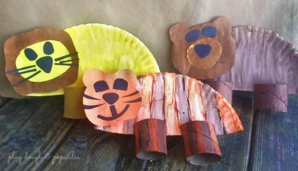 Lions, Tigers, and Bears, Oh My! Preschool craft for extension of The Wizard of…