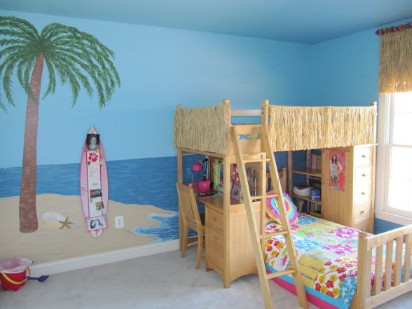 Sydneys beach bedroom my 9 year daugther old had outgrown for Girl themed bedroom ideas