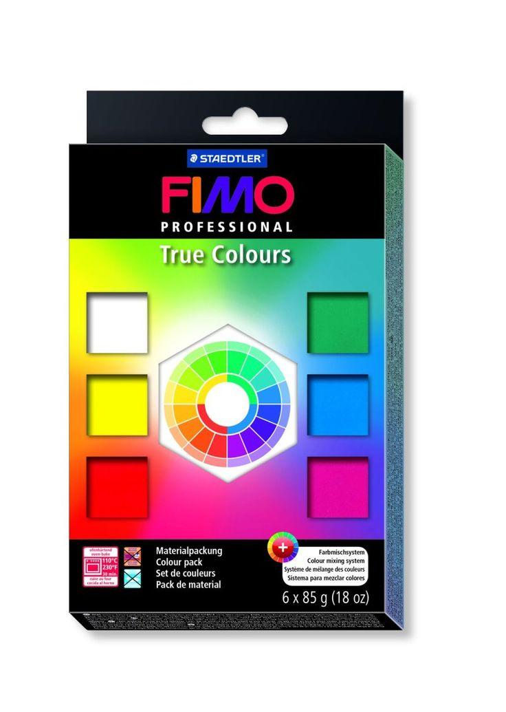 """FIMO professional набор """"Натуральные цвета"""", состоящий из 6-ти блоков по 85 гр., таблица смешивания цветов"""