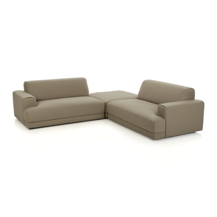 Annexe 3-Piece Sectional Sofa    Crate and Barrel