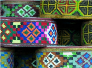 Traditional #himachal caps. They come in all sorts of patterns, colors and designs.  They represent the very spirit of Himachal - Delightful, content and lively