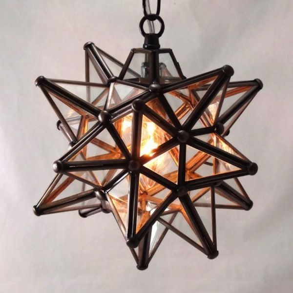 Moravian Star Pendant: front porch light (I think pottery barn sells these, if not, swing by Bethlehem next time we're in PA)