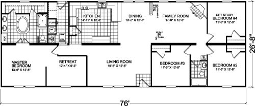 Virginia manufactured or modular home floor plans for Master retreat floor plans