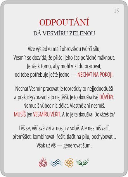 Portál pro osobní rozvoj změnou podvědomí a vlastní přitažlivosti: Člověče, poznej se — 19/24: Odpoutání
