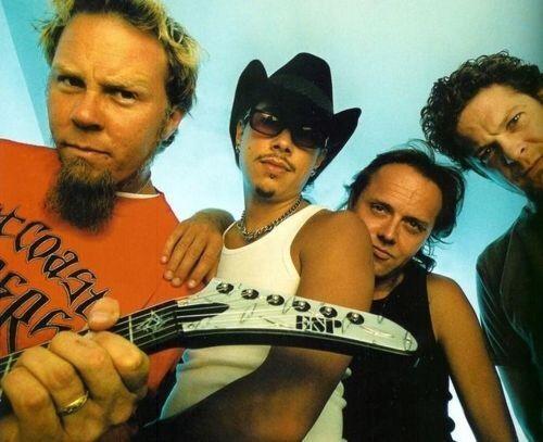 James Hetfield, Kirk Hammet, Lars Ulrich, and Jason Newsted
