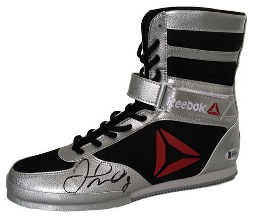 Floyd Mayweather Jr Signed Left Reebok Limited Edition Boxing Shoe Beckett BAS