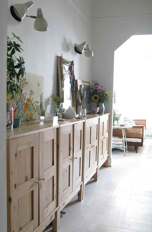 Ikea cabinets as credenza