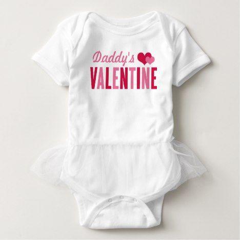 Daddy's Valentine | Valentine's Day Baby Bodysuit #kidsclothing #babyclothing