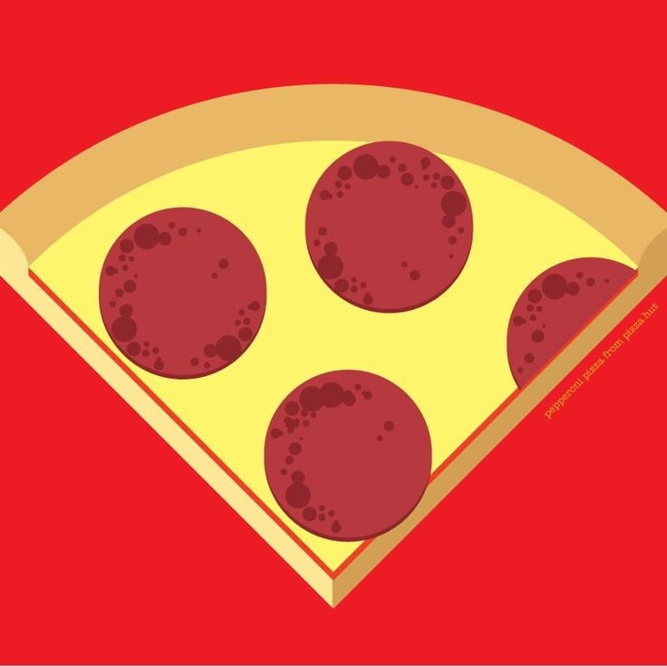 pepperoni piza from Pizza Hut