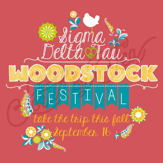 Sorority Social Sigma Delta Tau Woodstock Festival South By Sea
