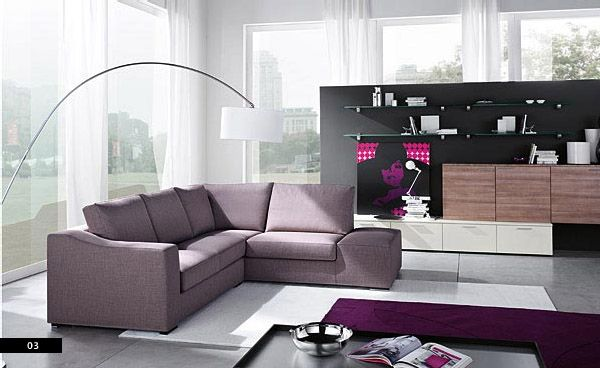 Contemporary Plums at Contemporary Living Room Sofa Sets