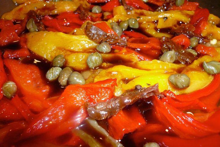 σαλάτα με πολύχρωμες πιπεριές