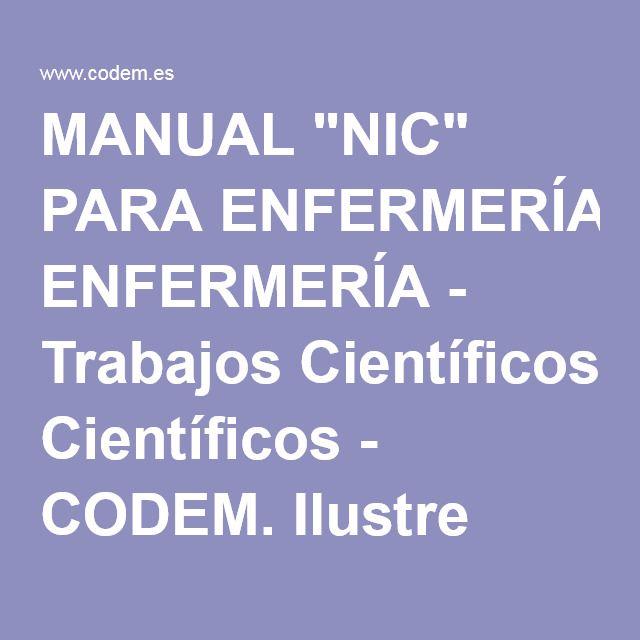 Acceso gratuito. Manual NIC para enfermería.