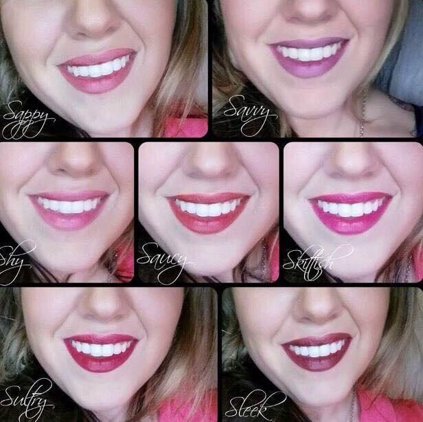 Here are our amazing Stiff Upper Lip lip stains! They apply like water but once dry they are kiss proof, mug proof and smudge proof! One application will last the night!!!!