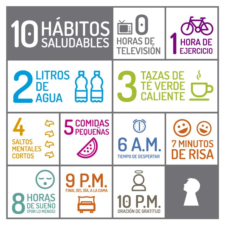 10 hábitos saludables!!! Salud