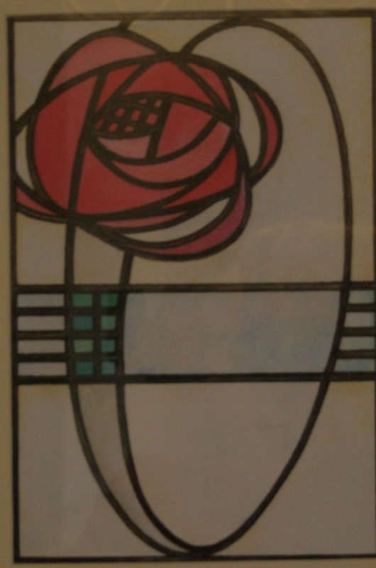 Glasgow rose collection, Charles Rennie Mackintosh, Scottish designer in the Arts and Crafts and the Art Nouveau movements in the UK.