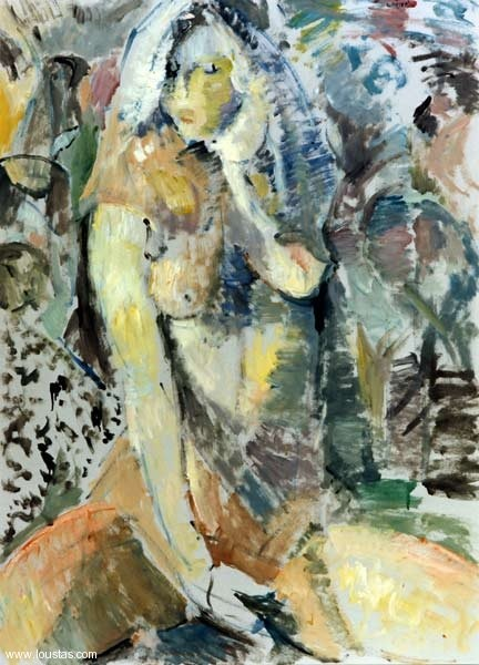 Nude, 1999, Oil on cardboard, 70x65cm