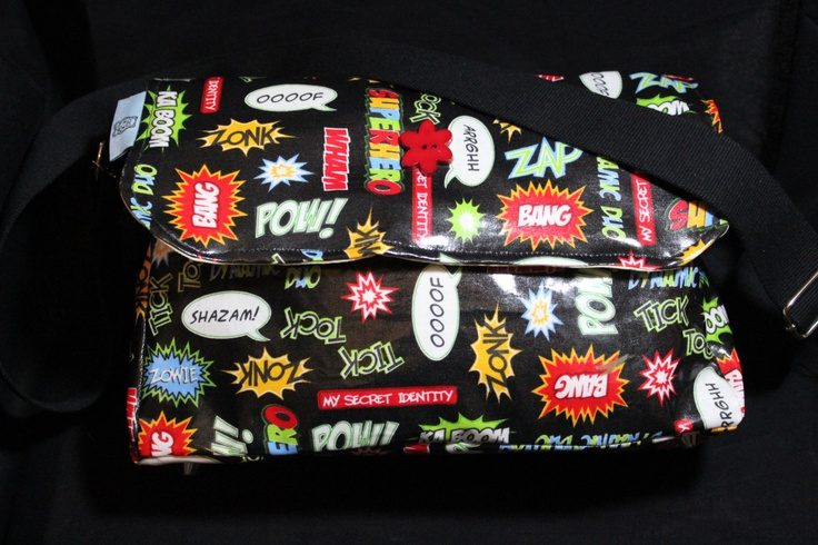 Laminated Messenger Bag By Dimplebum For The Little Lady Who Doesnt Like Pin. $37.00, via Etsy.