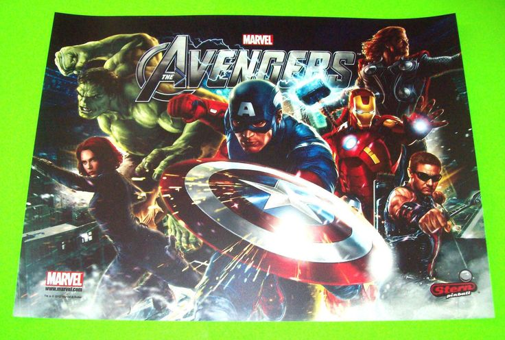 Stern The Avengers 2012 Original Nos Pinball Machine Translite Backglass Artwork