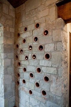 Clay Pipe Wine Rack mediterranean wine cellar