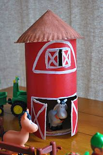 Oatmeal container barn - Driving My Tractor, Who's in the Farmyard, How Big is a Pig...what else?