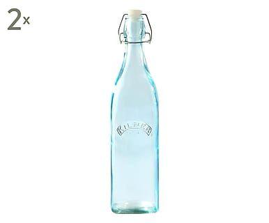 Limonadenflasche Jen mit Bügelverschluss, 2 Stück, 1 l