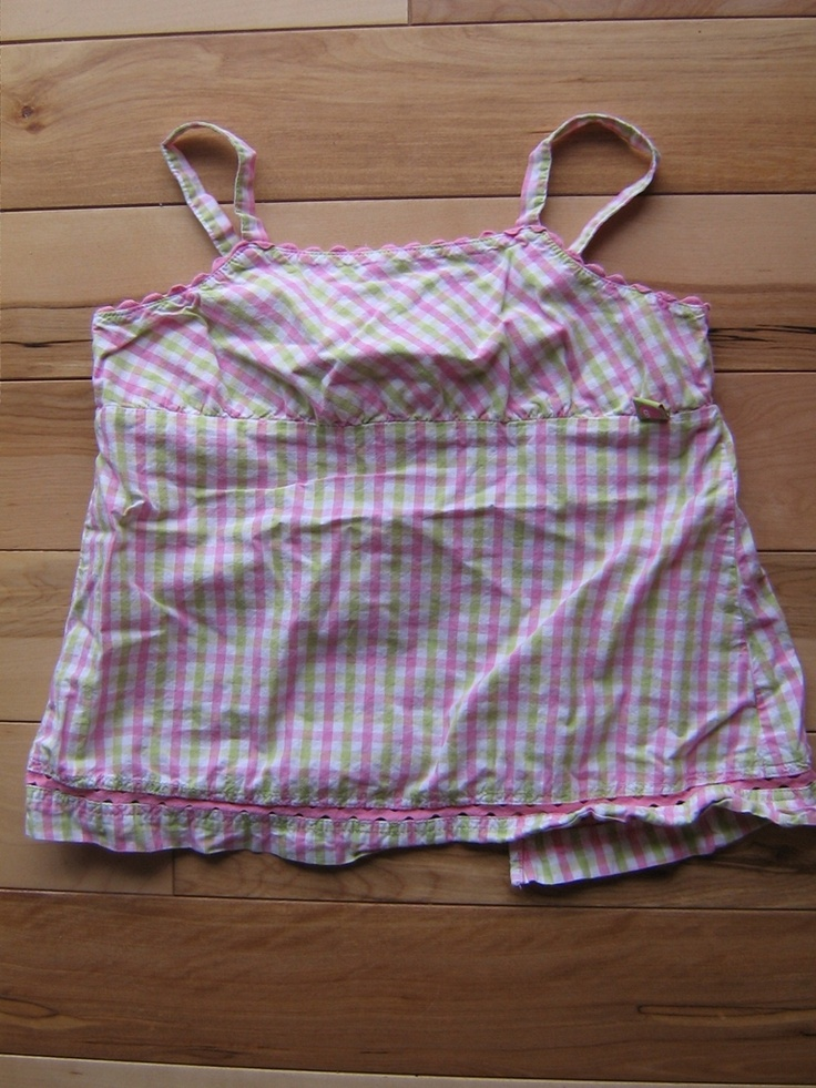 Gymboree Girls Strawberry Fields Pink Green White Checkered Top Shirt 6 EUC HTF (from the March '02   $4.00