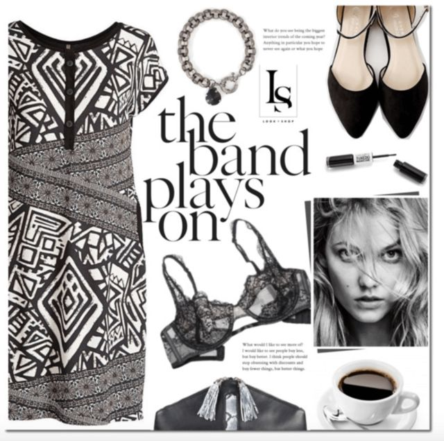 #printdress #perfectshoes #blackandwhite #fashion #chunkylinks #pointedshoes  Shop the look ---> http://lookshop.ca/pages/lookbook