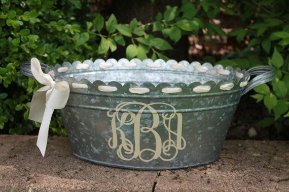 13 Best Metal Pail Centerpieces Images On Pinterest