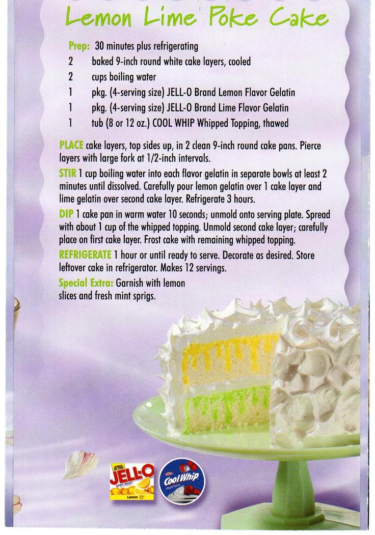 Lemon Lime Jello Cake