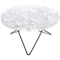Big O Table | OX Denmarq | €1695,- | Marmeren blad met dun frame.