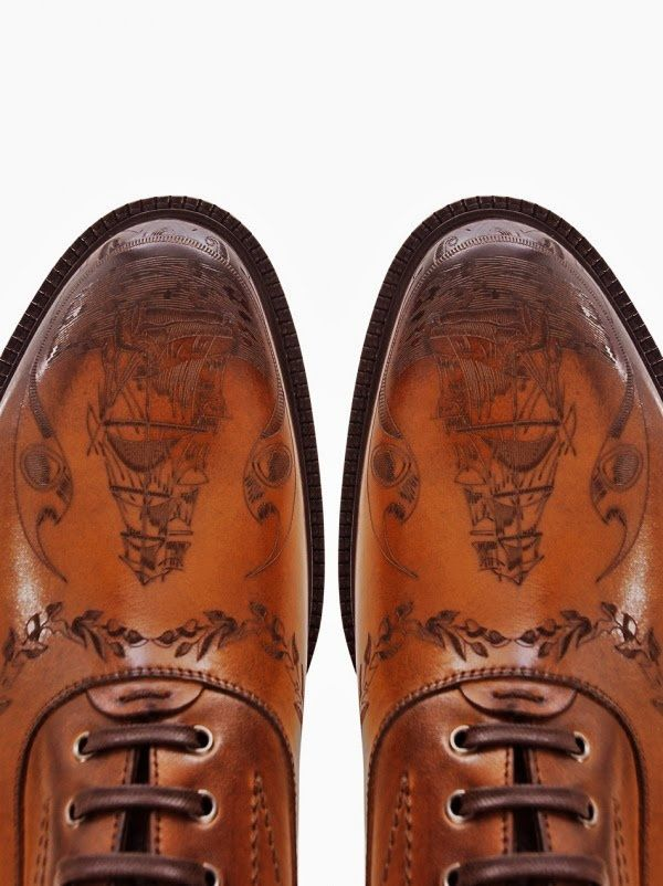 alexander mcqueen tan ship crested leather boots - Google Search