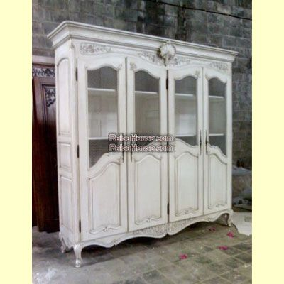 4 Doors French Armoire with Grill Refrence : RAR 015 4D GR Dimension : 235 x 55 x 230 cm Material : #WoodenMahogany Finishing : #Custom Buy this #Armoire for your #homeluxury, your #hotelproject, your #apartmentproject, your #officeproject or your #cafeproject with #wholesalefurniture price and 100% #exporterfurniture. This #4DoorsFrenchArmoirewithGrill has a #highquality of #AntiqueFurniture #WholesaleFurniture #GalleryFurniture #FurnitureManufacturer #FurnitureWarehouse…