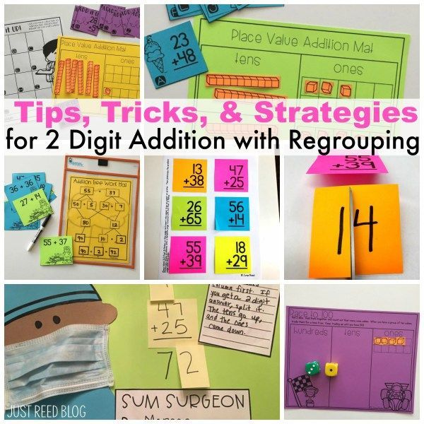 Use these tips, tricks,  and strategies to help your students MASTER 2 digit addition with regrouping!