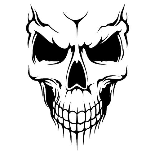 Skull Laptop Car Truck Vinyl Decal Window Sticker PV347