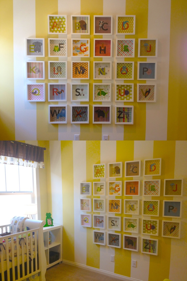 67 best Alphabet Themed Baby Room images on Pinterest | Nursery ...
