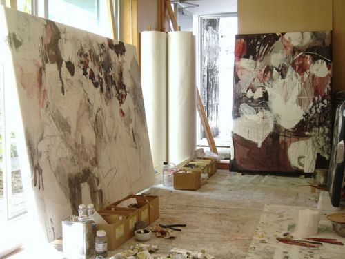 """bblacha: Works in progress by mayakonakamura on Flickr. Preparing for the upcoming show in Tokyo:-Mayako Nakamura Solo show """"One equals two..."""